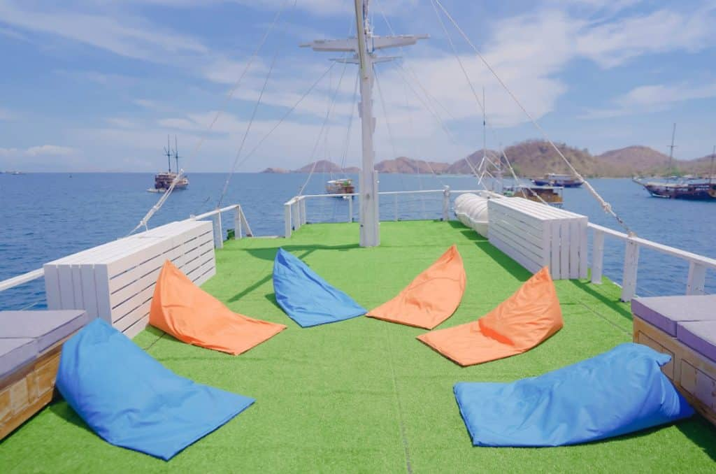 Sundeck with beanbags