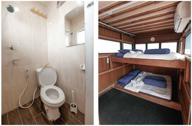 Cabin dan toilet Kapal La Dyana Labuan Bajo